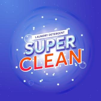Emballage de détergent à lessive pour super clean