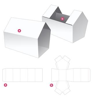 Emballage en forme de maison et couverture en forme de maison modèle découpé