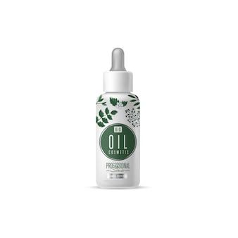 Emballage de gabarit de marque de cosmétique bio
