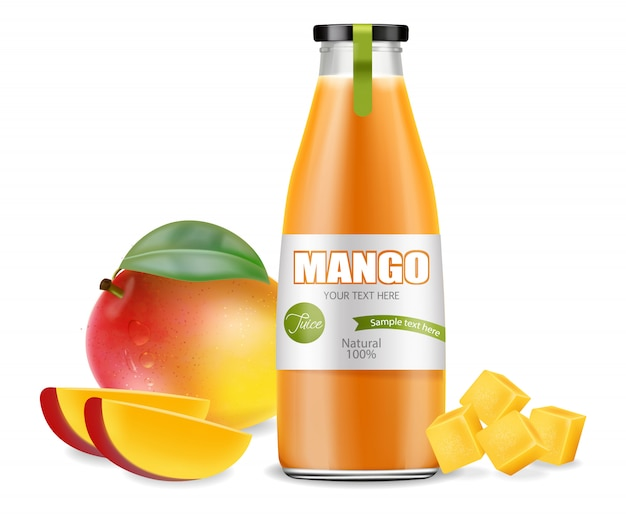 Emballage de jus de mangue