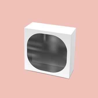 Emballage avec maquette de fenêtre ronde