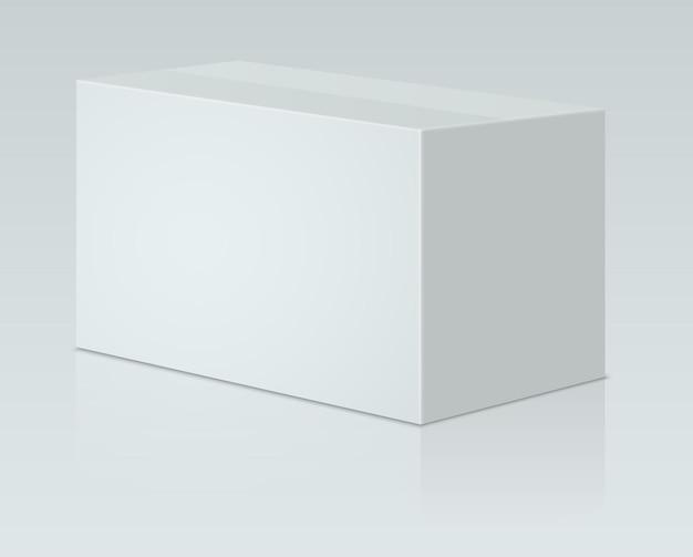 Emballage en papier blanc