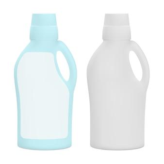 Emballage en plastique mat pour produits d'entretien ménager.