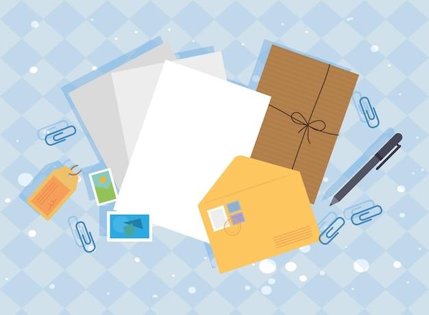 Emballage postal et lettres