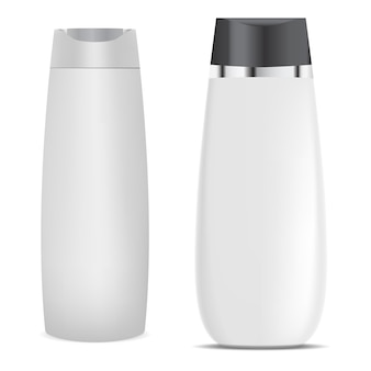 Emballage de produit cosmétique, isolé sur blanc