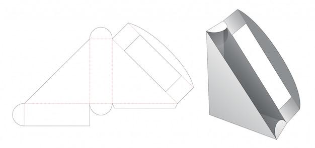 Emballage sandwich avec gabarit découpé pour fenêtre