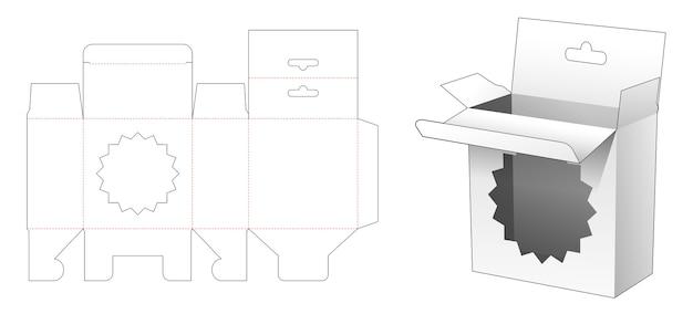Emballage à suspendre avec gabarit découpé à l'emporte-pièce