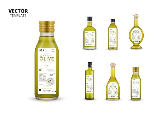 Emballages en bouteille de verre en conserve à l'huile d'olive extra vierge