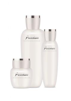 Emballages cosmétiques pearl pour hydratant, lotion et autres.