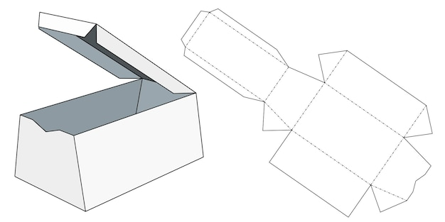 Emballages pour cadeaux, marchandises et nourriture. illustration vectorielle d'une boîte en carton. modèle de paquet. maquette de vente au détail blanche isolée.