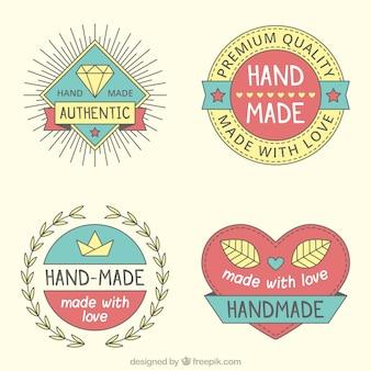 Emballez pf logos d'artisanat d'époque
