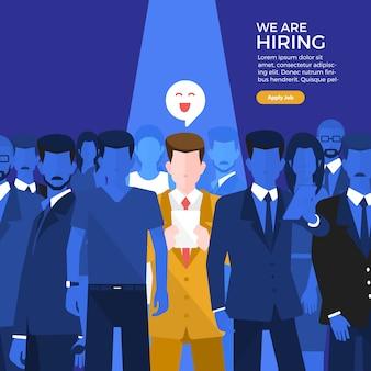 Embauche de bannière de gens d'affaires