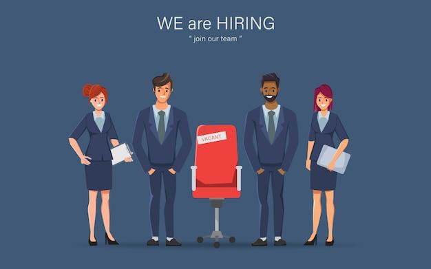 Embauche d'emploi et concept de gens d'affaires de poste vacant.