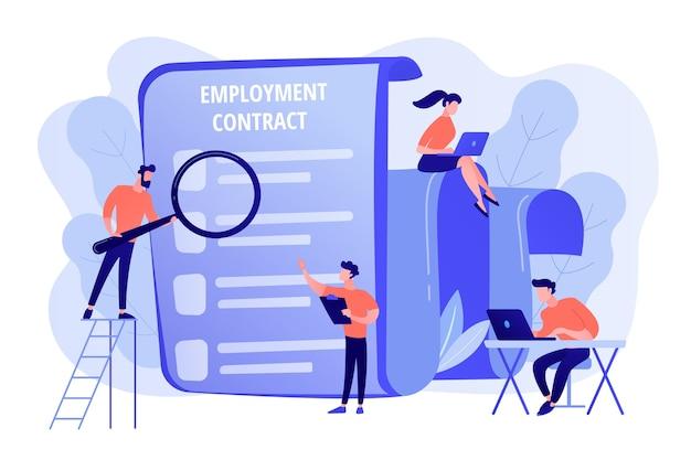 Embauche d'employés. document commercial. gestion des ressources humaines