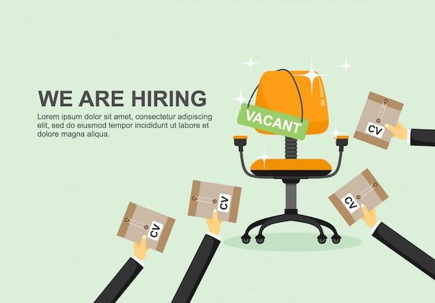 Embauche et recrutement d'entreprises.