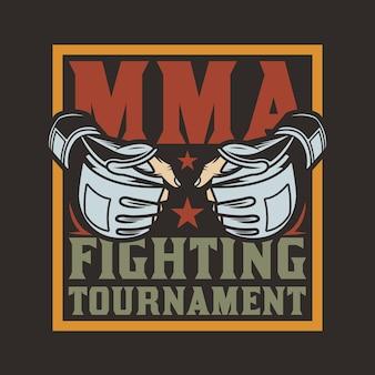 Emblème d'arts martiaux mixtes du club de combat mma