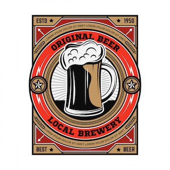 Emblème de biere vintage