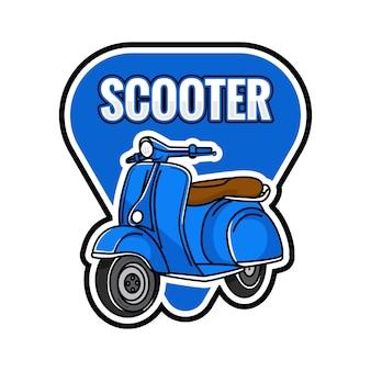 Emblème bleu scooter