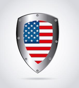 Emblème de bouclier américain
