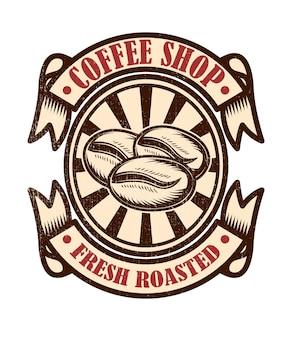 Emblème de café vintage