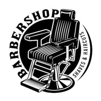 Emblème de chaise de barbier vintage