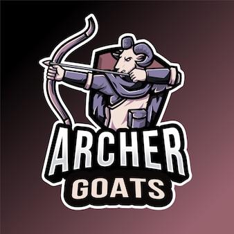 Emblème de la chèvre archer
