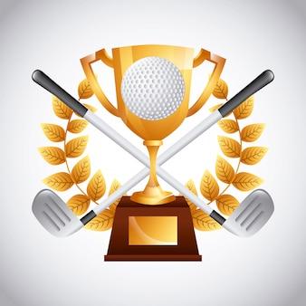 Emblème de club de golf