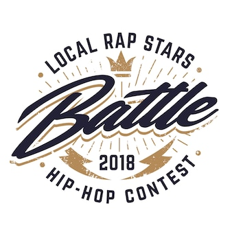 Emblème de combat hip-hop