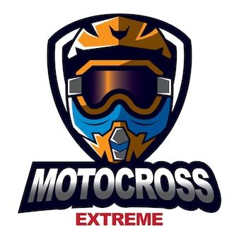Emblème de conception de motocross