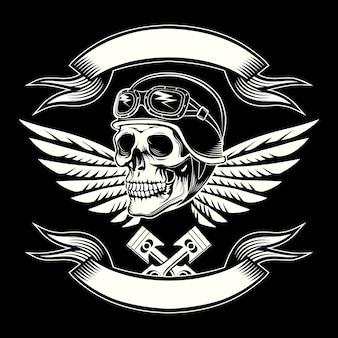 Emblème de crâne de moteur
