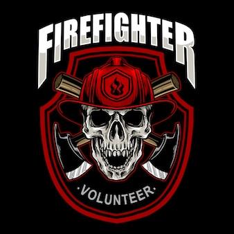 Emblème de crâne de pompier