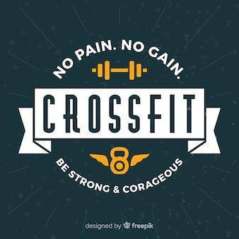 Emblème crossfit avec phrase de motivation
