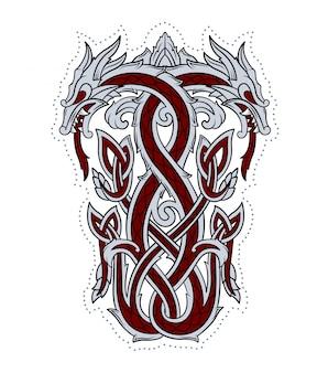 Emblème de dragon utilisé par les vikings