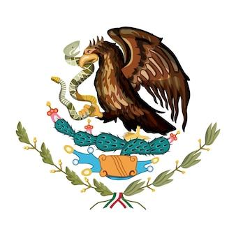 Emblème du drapeau mexicain