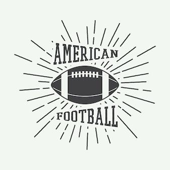 Emblème du football américain