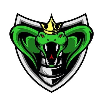 Emblème du king cobra