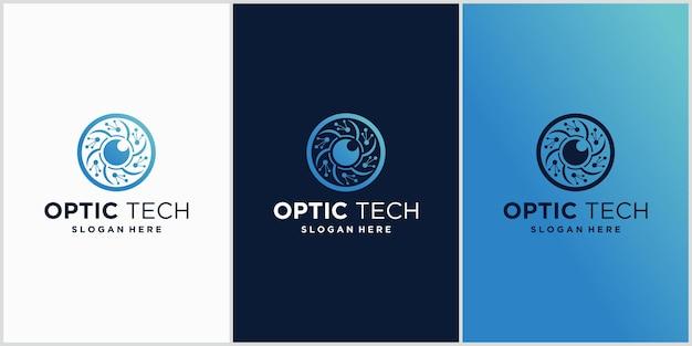 Emblème du logo de la technologie des yeux concept pour cctv