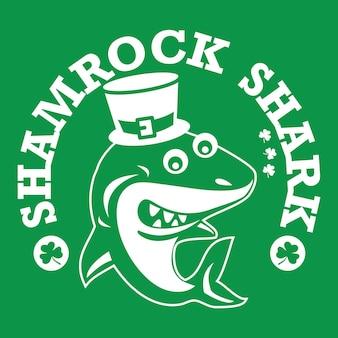 Emblème du requin trèfle