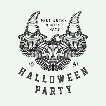 Emblème de la fête d'halloween