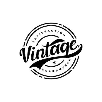 Emblème de hipster rétro vintage, insigne, autocollant, timbre, satisfaction de l'étiquette garantie vecteur de conception de logo de timbre de produit de qualité certifiée