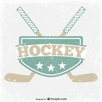 Emblème de hockey cru