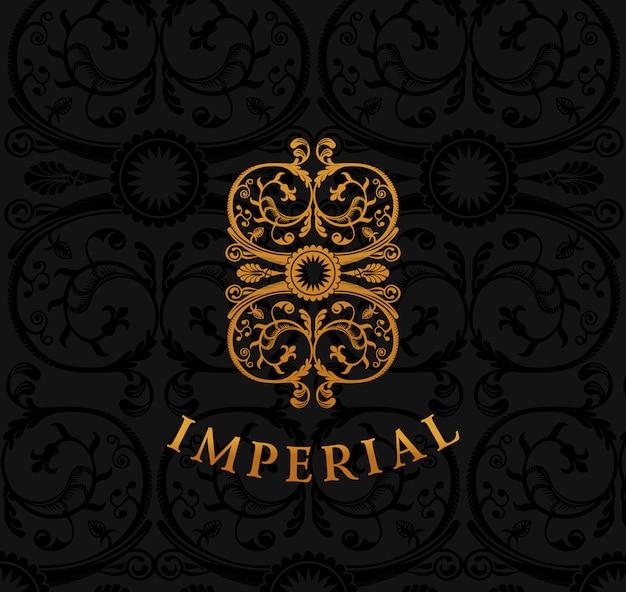 Emblème impérial vintage or