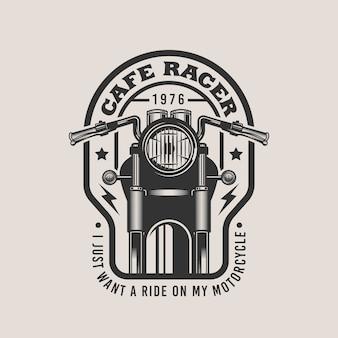 Emblème d'insigne vintage de moto personnalisé cafe racer