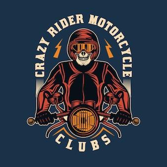 Emblème d'insigne vintage de moto personnalisé