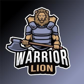 Emblème de lion guerrier