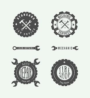 Emblème et logo de mécanicien.