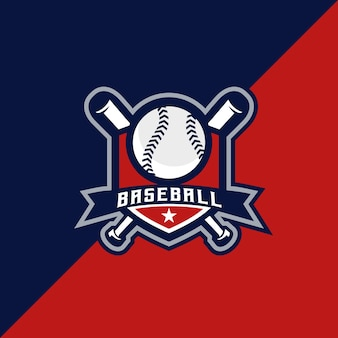 Emblème de logo simple baseball esport et sport