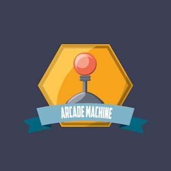 Emblème de la machine d'arcade avec l'icône de la manette de jeu