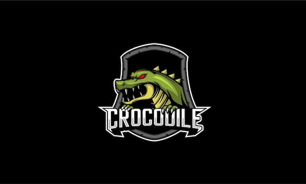 Emblème De Mascotte De Crocodile Vecteur Premium