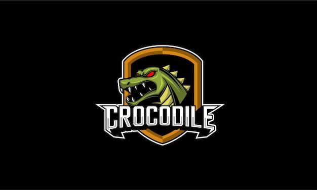 Emblème de mascotte de crocodile